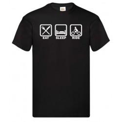 Camiseta Eat Sleep Ride